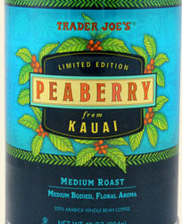Trader Joe's Peaberry Coffee from Kauai
