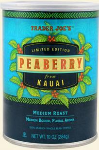 Trader Joe's Peaberry Coffee from Kauai