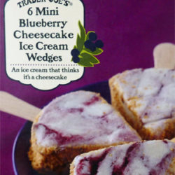 Trader Joe's Blueberry Cheesecake Ice Cream Wedges