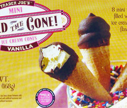 Trader Joe's Mini Hold the Cone Vanilla Ice Cream Cones