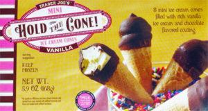 Trader Joe's Mini Hold the Cone Vanilla Ice Cream Cones