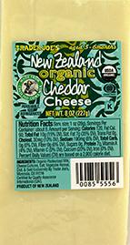 Trader Joe's New Zealand Organic Cheddar Cheese