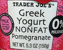 Trader Joe's Nonfat Pomegranate Greek Yogurt