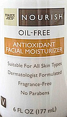 Trader Joe's Nourish Oil-Free Antioxidant Facial Moisturizer