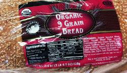 Trader Joe's Organic 9 Grain Bread