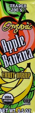 Trader Joe's Organic Apple Banana Fruit Wrap