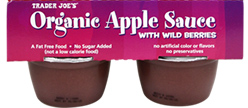 Trader Joe's Organic Apple Sauce with Wild Berries