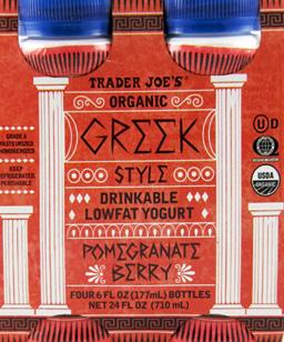 Trader Joe's Organic Greek Style Drinkable Lowfat Pomegranate Berry Yogurt