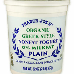 Trader Joe's Organic Greek Style Plain Nonfat Yogurt