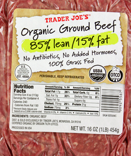 Trader Joe's Organic Ground Beef
