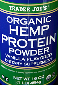 Trader Joe's Organic Hemp Protein Vanilla Flavored