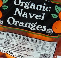Trader Joe's Organic Navel Oranges