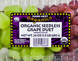 Trader Joe's Organic Seedless Grapes Duet