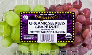 Trader Joe's Organic Seedless Grapes Duet