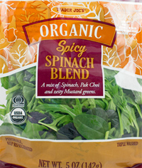 Trader Joe's Organic Spicy Spinach Blend