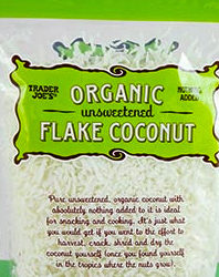 Trader Joe's Organic Unsweetened Flake Coconut