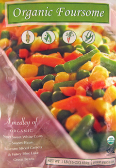 Trader Joe's Organic Frozen Vegetables Foursome