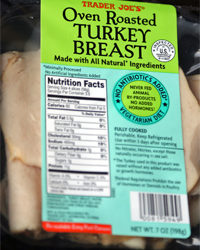 Trader Joe's Oven Roasted Turkey Breast Slices