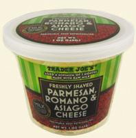 Trader Joe's Shaved Parmesan, Romano & Asiago Cheese