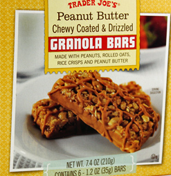 Trader Joe's Peanut Butter Chewy Coated & Drizzled Granola Bars