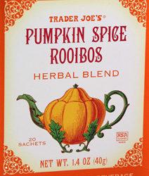 Trader Joe's Pumpkin Spice Rooibos Herbal Tea
