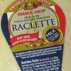 Trader Joe's Raclette Cheese