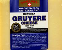 Trader Joe's Switzerland Raw Milk Gruyere Cheese