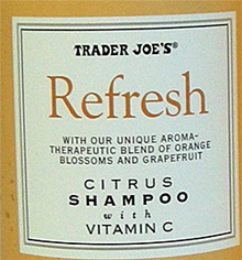 Trader Joe's Refresh Citrus Shampoo