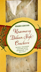 Trader Joe's Rosemary Italian Style Crackers