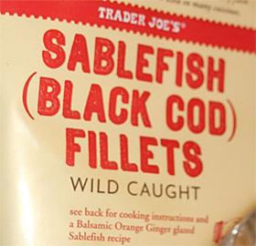 Trader Joe's Sablefish Black Cod Fillets