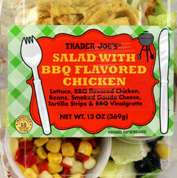 Trader Joe's Salad with BBQ Flavored Chicken