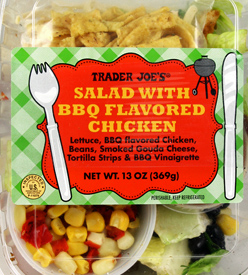 Trader Joe's Salad with BBQ Flavored Chicken