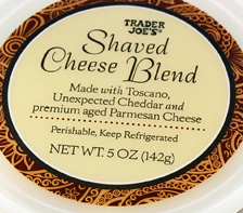 Trader Joe's Shaved Cheese Blend