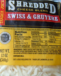 Trader Joe's Shredded Swiss & Gruyere Cheese Blend