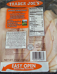 Trader Joe's Smoked Sliced Turkey Breast