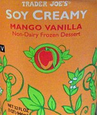 Trader Joe's Soy Creamy Mango Vanilla Ice Cream