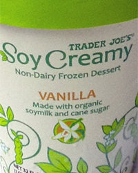 Trader Joe's Soy Creamy Vanilla Ice Cream