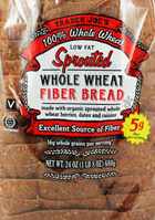 Trader Joe's Sprouted Whole Wheat Fiber Bread
