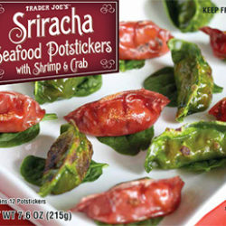 Trader Joe's Sriracha Seafood Potstickers with Shrimp & Crab