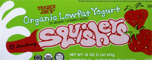 Trader Joe's Organic Low Fat Strawberry Yogurt Squishers