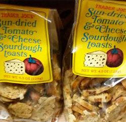 Trader Joe's Sun-Dried Tomato & Cheese Sourdough Toasts