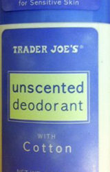 Trader Joe's Unscented Deodorant with Cotton