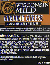 Trader Joe's Wisconsin Mild Cheddar Cheese