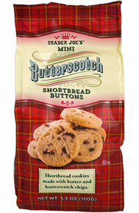 Trader Joe's Mini Butterscotch Shortbread Buttons Cookies