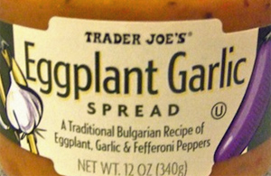 Trader Joe's Eggplant Garlic Spread