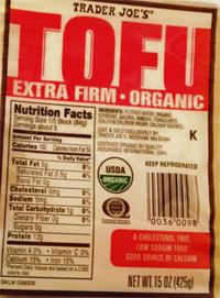 Trader Joe's Organic Extra Firm Tofu