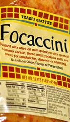 Trader Joe's Focaccini