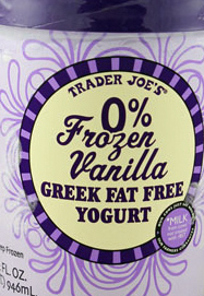 Trader Joe's Fat Free Vanilla Greek Frozen Yogurt