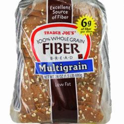 Trader Joe's Multigrain Fiber Bread