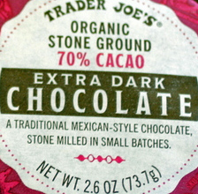 Trader Joe's Organic Stone Ground 70% Cacao Mexican Dark Chocolate